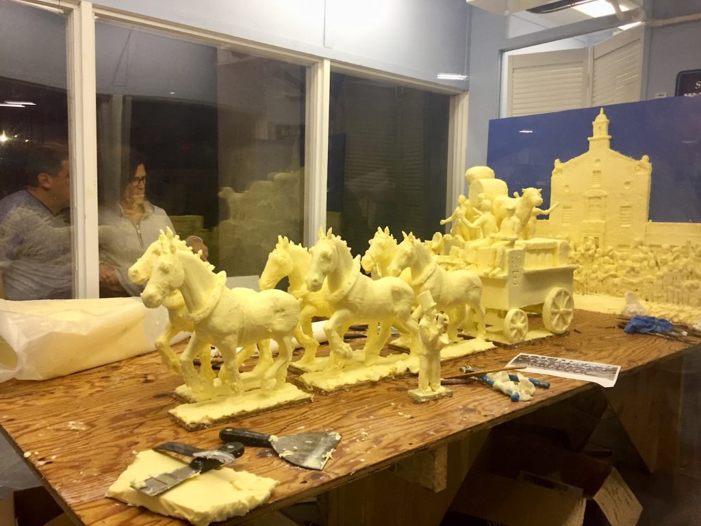 Giant butter sculpture