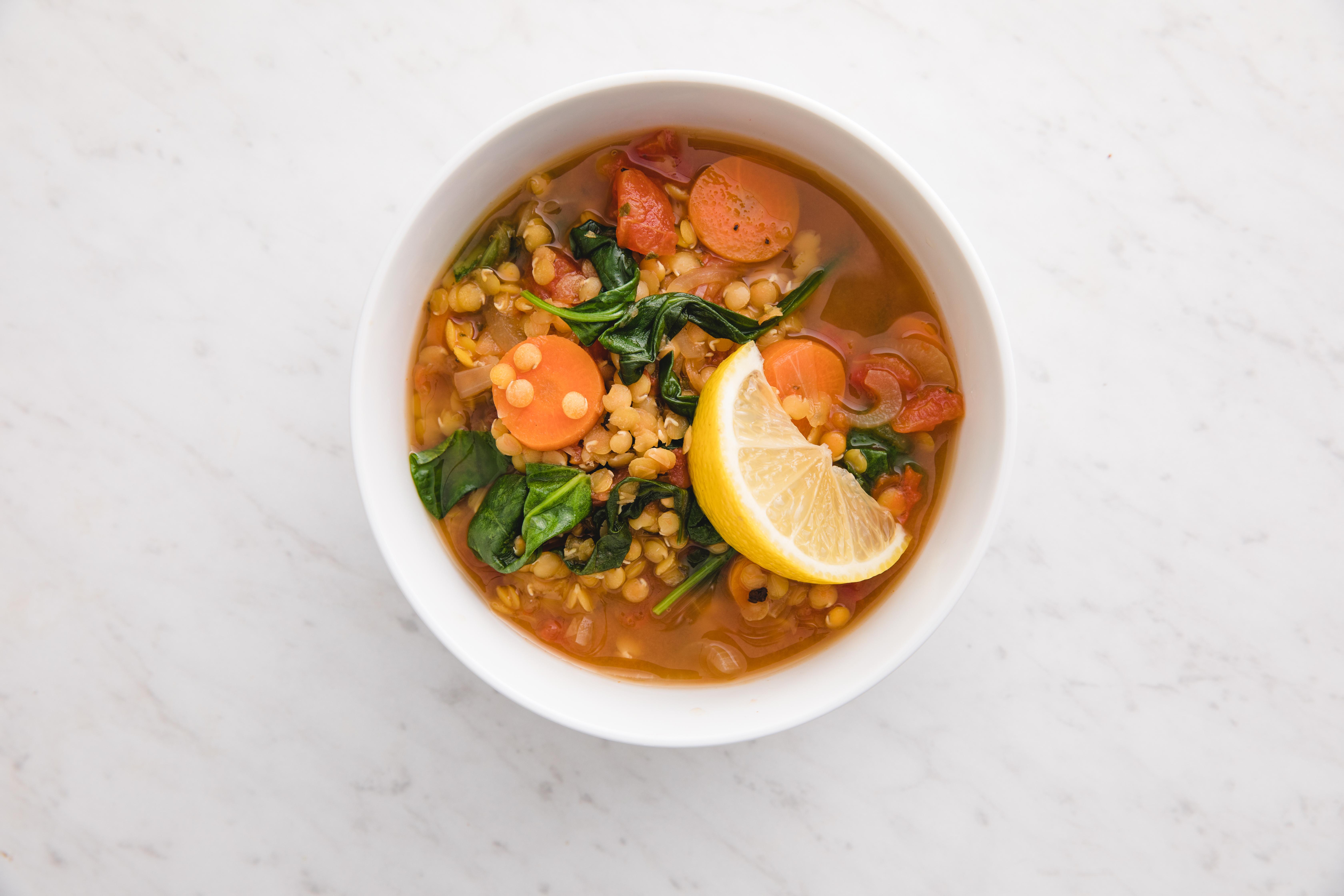 red lentil vegan soup
